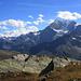 Gipfelkreuz des Staldhorn mit Blick zum Fletschhorn