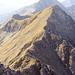 Blick vom Gipfel Wyssi Flue zurück zum Aufstieg