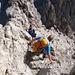 Abstieg im steilen Schrofengelände