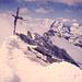 Das Gipfelkreuz auf dem Dom (4545m) - damals wie heute ein Traumziel vieler Hochalpinisten.