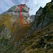 Routenverlauf durch die W-Flanke des Pointes de Châtillon E-Gipfels