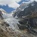 Il ghiacciaio formato dal Nevado Sarapo e dal Nevado Siula Grande