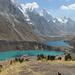 Quesillococha 4332m, Laguna Siula 4290m e Laguna Gangrajanca 4245 sullo sfondo: quest'ultima è sempre ghiacciata
