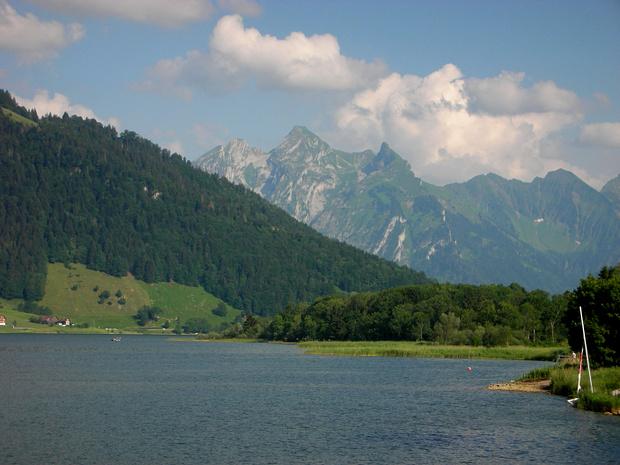 Der Fluebrig über dem Sihlsee