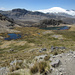 Laghetti a Q 4800 circa, sullo sfondo domina il Nevado Leòn Huaccanan (Leone dormiente) 5421m