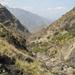 Quebrada Milo: si vede il polverosissimo sentiero che abbiamo percorso e che in tre km circa ci ha fatto superare circa 800m di dislivello