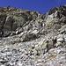 Letzte Kletterstelle bevor die Hochebene der <i>Lais da Glims</i> wieder erreicht ist.