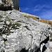 Baltschieder Klettersteig (der mittelschwere) von unten. Alles mit komfortablen u-förmigen Tritten ausgestattet.