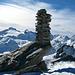 Geschickt gebaut: Steinmann des Frunthorn 3030m