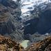 Tiefblick zum Gletschersee