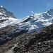 Chamanna Coaz eingebettet in den Gletschern