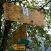 Zweite Tour 14./15.10.2010 zum Wisenberg.  Wegweiser beim Gasthpf Bad Ramsach (739m). Mit zügigem Schritttempo ist man in etwa 30 Minuten auf dem Wisenberg (1001,5m).