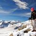 Am Gipfel, Königsspitze links, in der Bildmitte noch teilweise der Ortler zu sehen