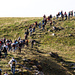 Impressionen, Abstieg 7000 Menschen vom Fliegerschiessen Axalp