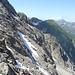im Hintergrund die Große Wildgrubenspitze, höchster Berg des Lechquellengebirges? Ich bin mir nicht sicher, Vorschläge erwünscht