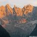 Pizzo Badile (3305m, 10843ft) au soleil couchant