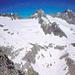 Vom Chlyne Diamantstock : Die Berge oberhalb der Gruebenhütte.