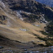 Tiefblick zur Alpe di Cioù