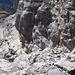 Rückblick zum Aufstiegsgelände