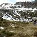 Unsere letzten 200 Höhenmeter bis zum Punkt 2108m, mit viel weichem Schnee.