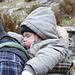 All'Alpe Efra abbiam incontrato una famiglia di francesi, il loro pargolo tranquillo dormiva