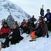 Die ganze Gruppe auf dem Gipfel: Martin, Kati, Werner ([u Hawkeye]), Hans, Herbert ([u Climby]), ich ([u mali]), Katherina,Johanna, Gisela<br /><br />(Foto: Gisela)