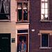 Egon am Hotel New York, das kleinste Haus Amsterdam.<br />Das Hotel hat nur 1 Zimmer und ist monatelang ausgebucht. Der Zimmerpreis betrug 1974 400 Hfl - das entsprach 400 DM.