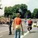 Egon im orangen T-Shirt noch 500 m bis zum Ziel