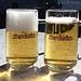 Der Schein trügt: Es war allerfeinstes Einsiedler Bier drin, nicht (ebenfalls feiner) Burehöfler.