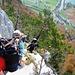 Auf der Rampe, die an der westlichen Felskante zur Stockflue führt