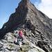 Aufstieg zu den ersten Kletterstellen
