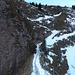 Verschneiter Weg oberhalb des Bändlis