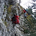 Abstieg über die Nordseite der Bütziflue - ein Drahtseilakt