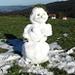 Ob die Schneefrau den nächsten Wintereinbruch wohl noch erlebt?