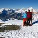 Auf dem Gipfel des Ginalshorn 3026m. Hinten [http://www.hikr.org/tour/post334.html Wildstrubel] -  [http://www.hikr.org/tour/post204.html Rinderhorn] - [http://www.hikr.org/tour/post4512.html Altels] -  [http://www.hikr.org/tour/post190.html Balmhorn] und [http://www.hikr.org/tour/post1057.html Doldenhorn]