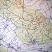 Hier ein Detail ( Nesselberg/Osterwald) meiner Wandkarte mit eingezeichneten Routen.