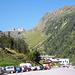 die Schaufelspitze grüßt, rechts der schwierige Egesengrat mit seinem markanten Pfeiler, durch den der Fernau-Klettersteig führt (siehe Tourenberichte)