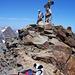 am Ziel, auch ein Hund hat den Gipfel erreicht