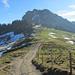 der Gipfel des Chli Aubrig kommt in Sicht
