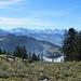 tolle Rundumsicht auf dem Weg zum Gipfel des Chli Aubrig