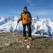 Auf dem Gipfel des Rappehorn oder Mittaghorn 3158m