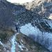 La discesa dalla Bocchetta di Doia al lago è delicata a causa della neve ghiacciata che copre il sentiero!