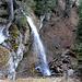 """Idylle am Pistenrand - der kleine Wasserfall neben der """"Waldabfahrt"""""""