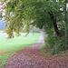 """Herbstliche Regenstimmung oberhalb des """"Gipfelrestaurants"""" auf dem Pfannenstiel"""