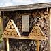 """auch noch eher ungewohnt, die neuartigen """"Bienenhotels"""" ..."""