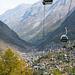 Blick runter nach Zermatt