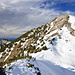 Aufstieg zum Gipfel Scheinbergspitze.