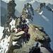 Das letzte Stück bis zum Gipfel muss mit Klettern überwunden werden. <br />