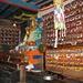 Monastero di Khumjung. I cassetti contengoni libri e rotoli religiosi.