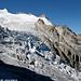 Le Col des Ecandies surplombe le glacier du Trient